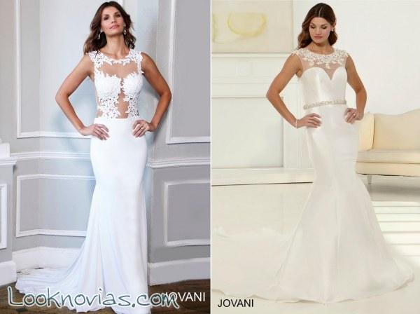 escotes con transparencias en los vestidos de jovani