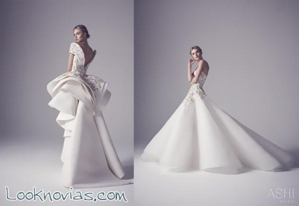 Los vestidos con acabados ondulados de Ashi Studio