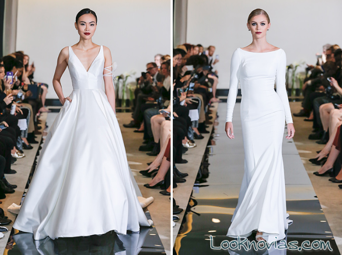 vestidos corte minimalista 2018