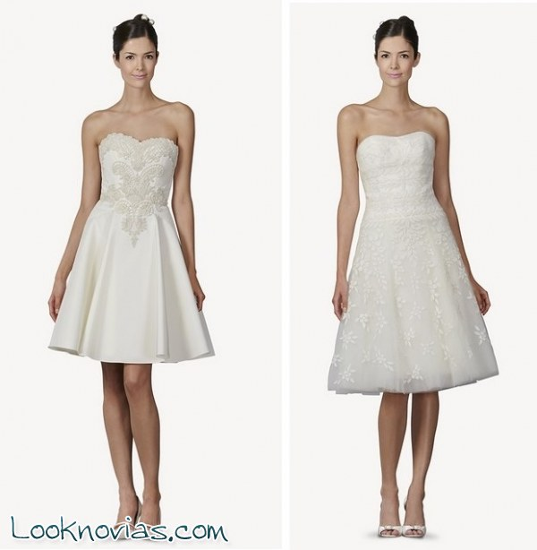 vestidos cortos de novia por carolina herrera