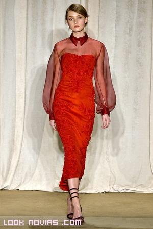 vestidos de  moda en color rojo