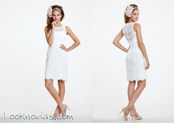 Vestidos de novia cortos por Encore