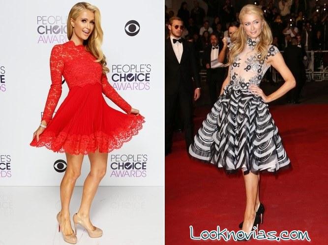 Vestidos cortos Paris Hilton