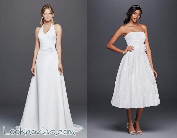 Vestidos David´s Bridal por menos de 100 euros