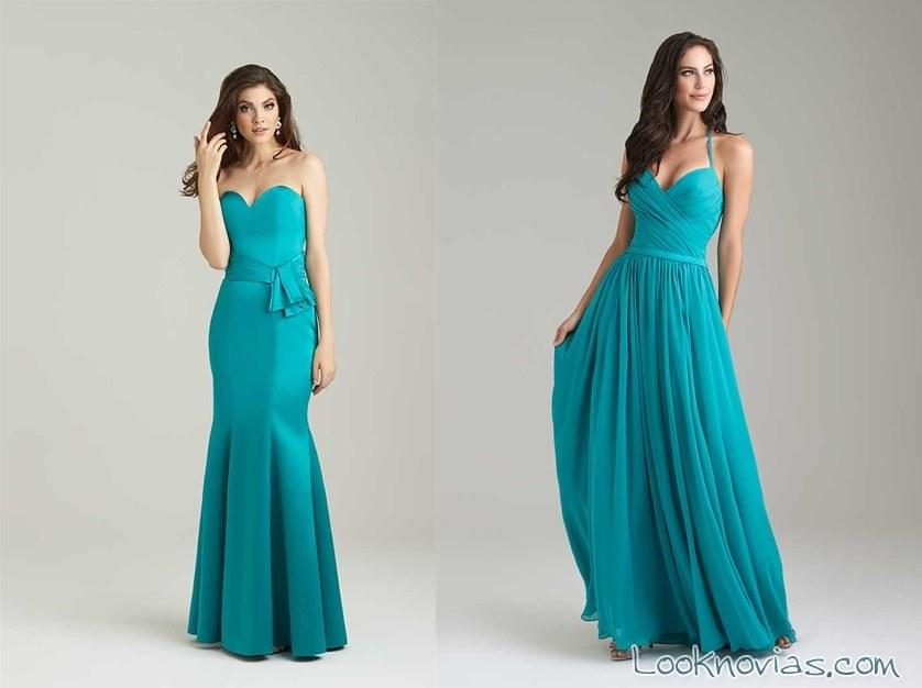 Vestidos azul turquesa para damas boda