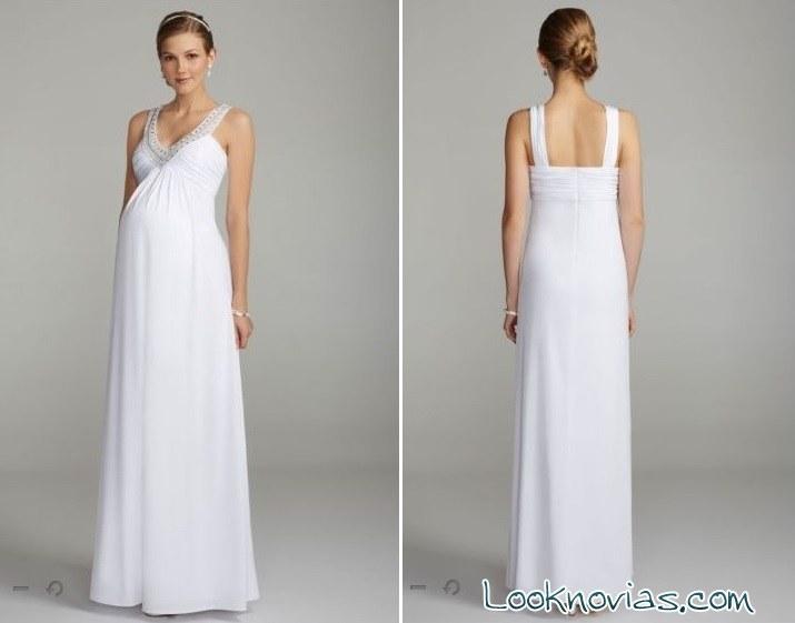 Vestido largo elegante para embarazada