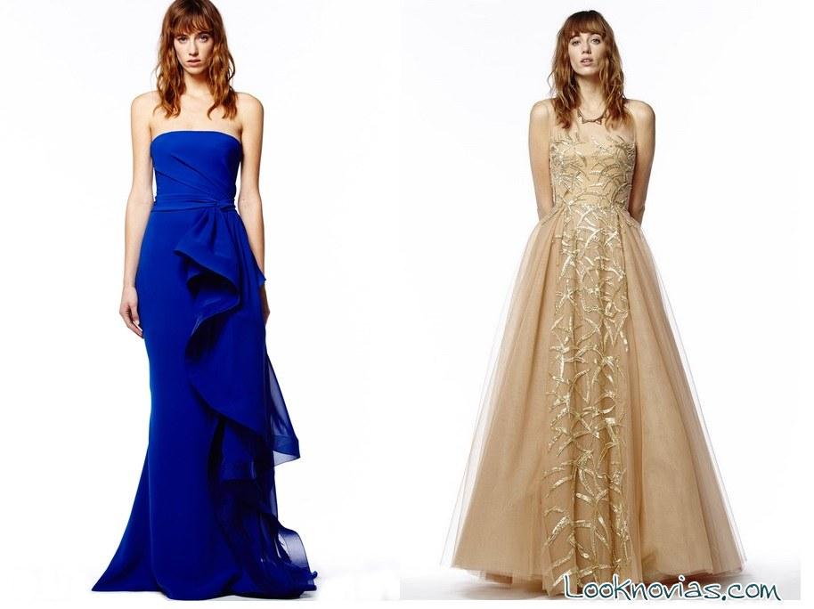 vestidos de fiesta monocromáticos