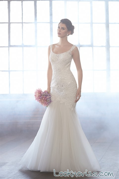vestidos de novia con encajes Madison James