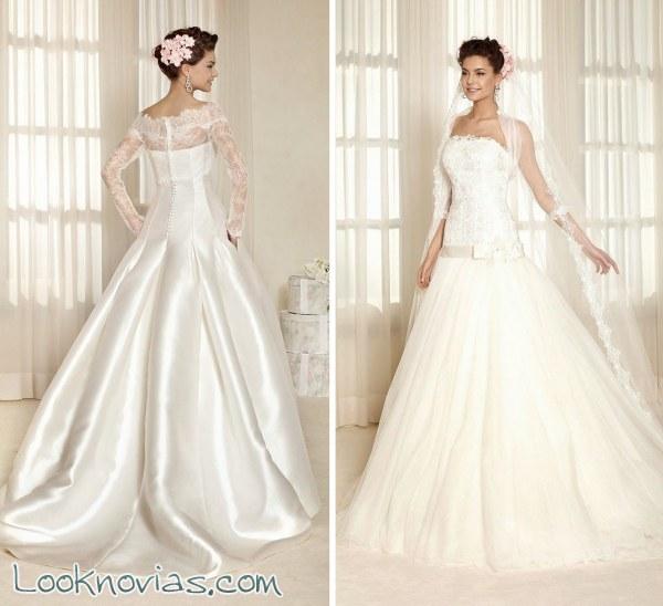 5 vestidos para novias modernas por Delsa