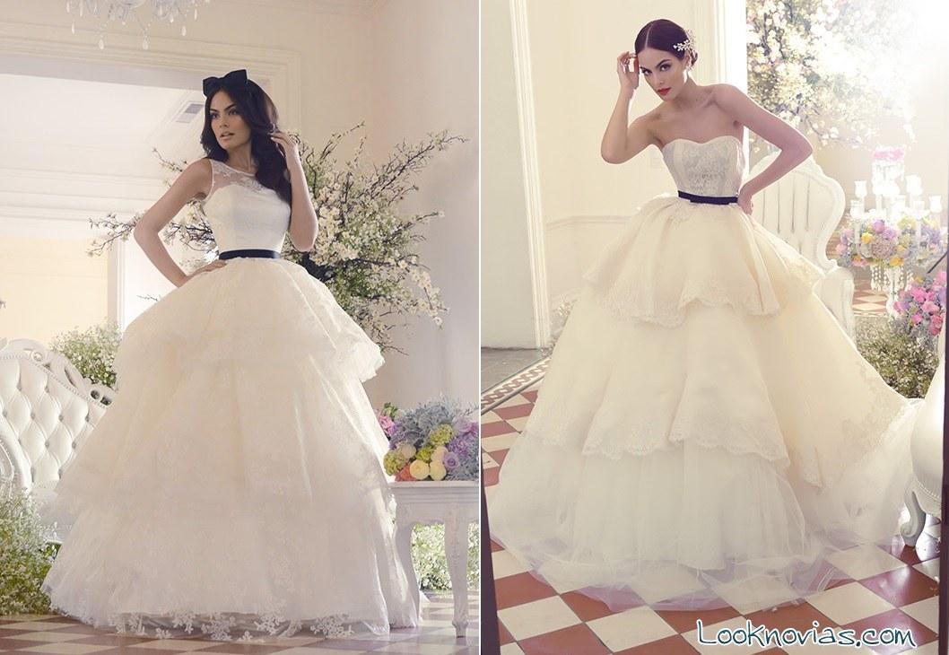 vestidos de novia con volantes de benito santos