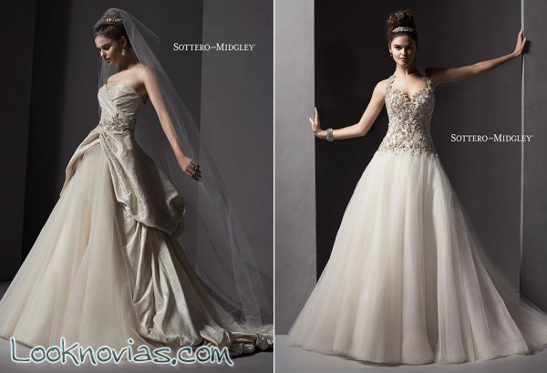 Inspírate con estos vestidos de Sottero and Midgley