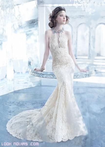 novias con vestidos de corte princesa