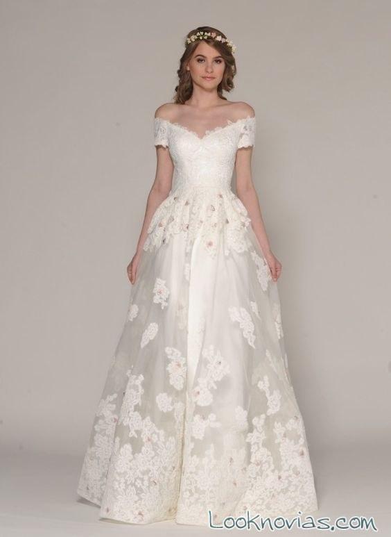 vestidos de novia eugenia couture con escote barco