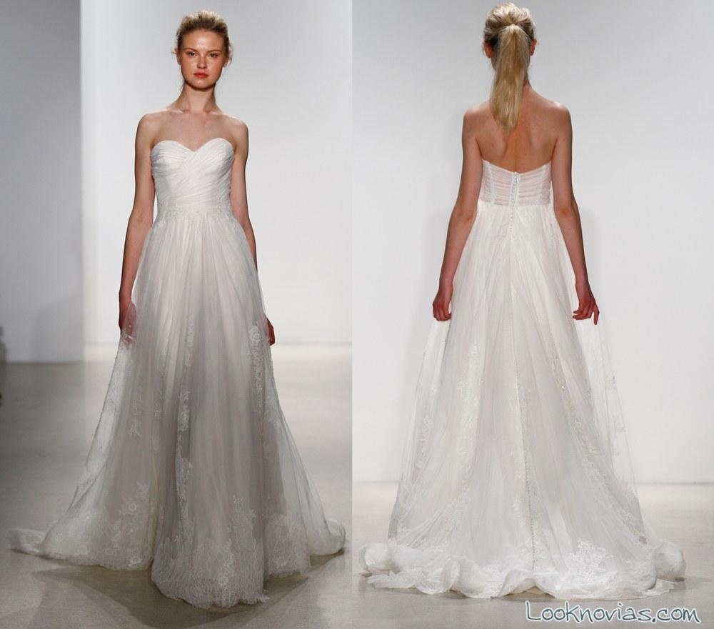 vestidos de novia evasé con escote