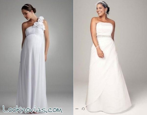 Vestidos de novia para embarazadas por david 180 s bridal