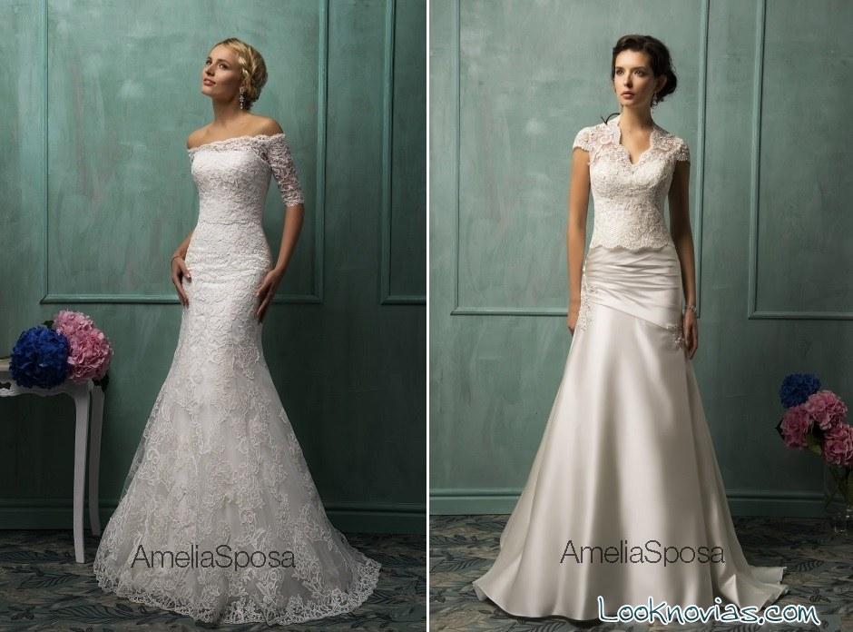 vestidos de novia rectos Amelia Spoa
