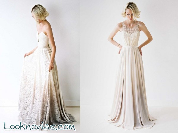 Efecto degradado y escotes en tu vestido de novia