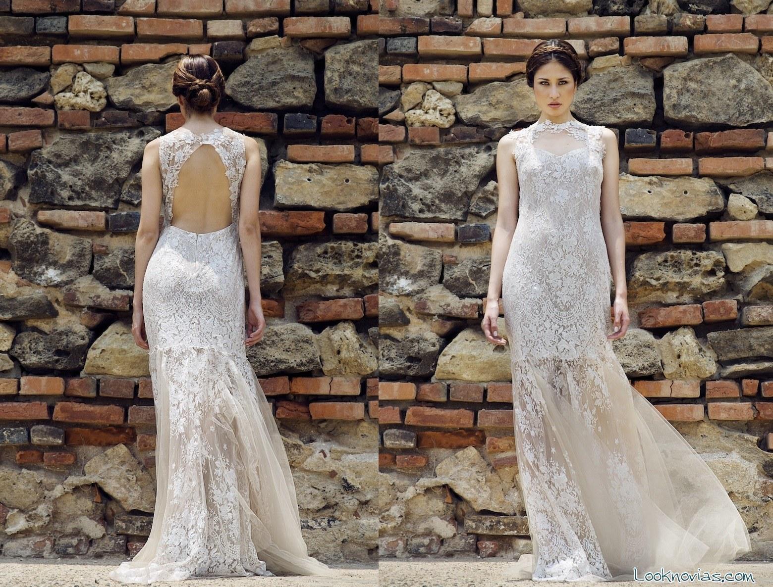Vestidos de novias largos con transparencias