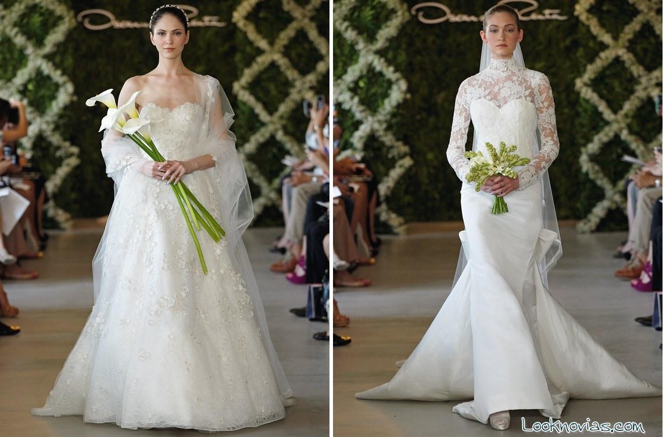 vestidos de oscar de la renta para novia