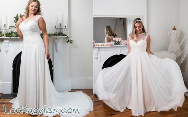 Increíbles vestidos de novia Dina Curves