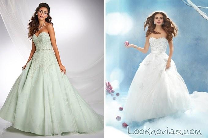 vestidos elegantes princesas disney alfred angelo