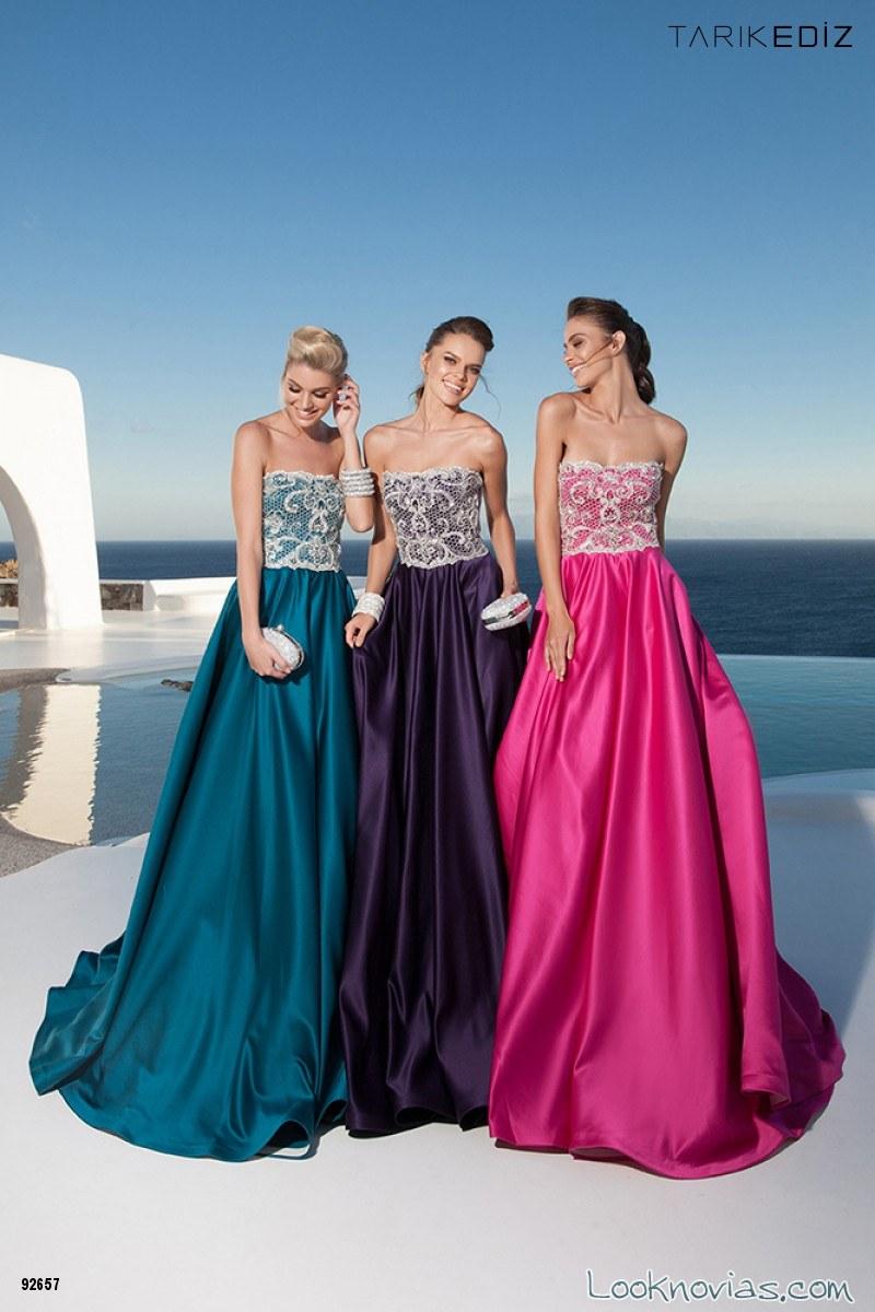 vestidos en color para damas