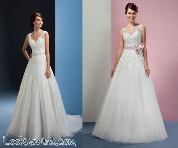 Elegancia y buen gusto entre estos vestidos evasé