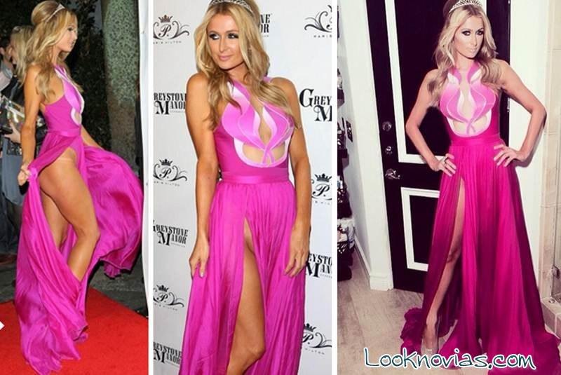 vestidos hilton rosa