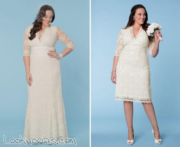 Vestidos para boda civil plus size