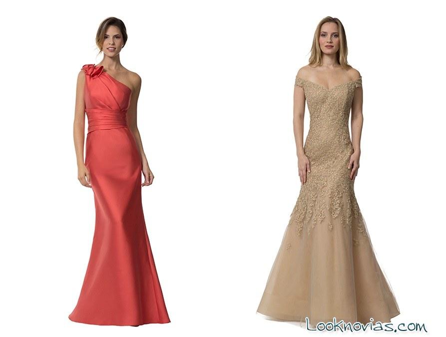 vestidos largos de raso liancarlo