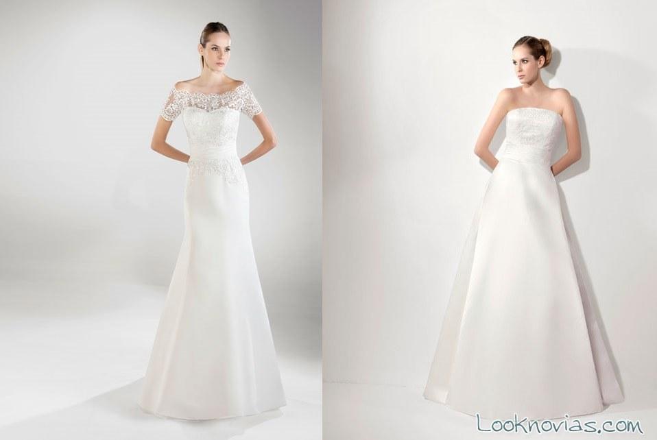 vestidos lugo novias largos con encajes
