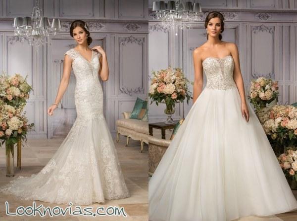 Novias llenas de glamour y lujo gracias a estos vestidos