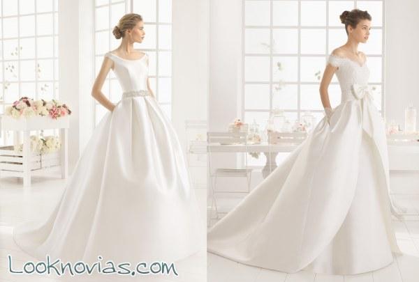 Vestidos de novia con corte minimalista