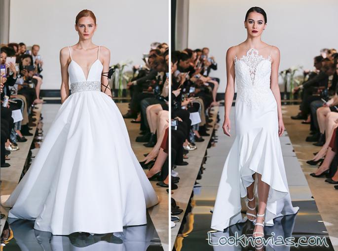 vestidos novia corte asimétricos 2018