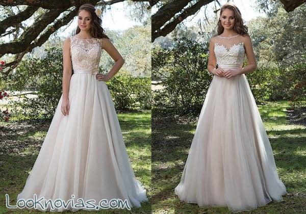 Novedades en los vestidos de novia Sweetheart