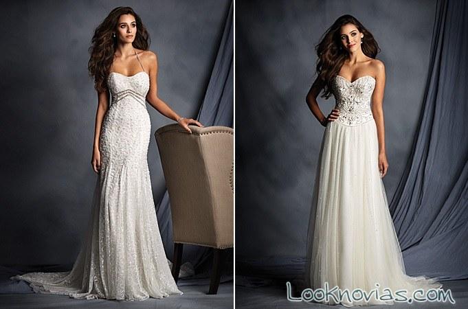 vestidos rectos de alfred angelo