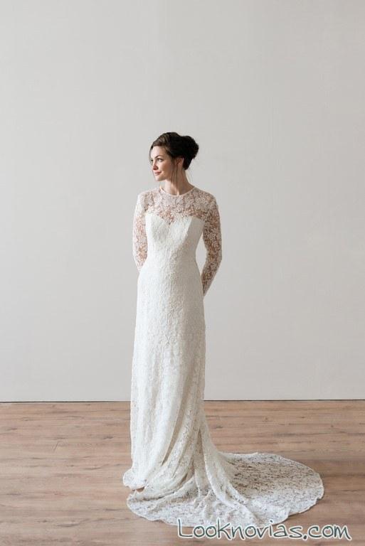 vestidos rectos gasa novias naomi neoh
