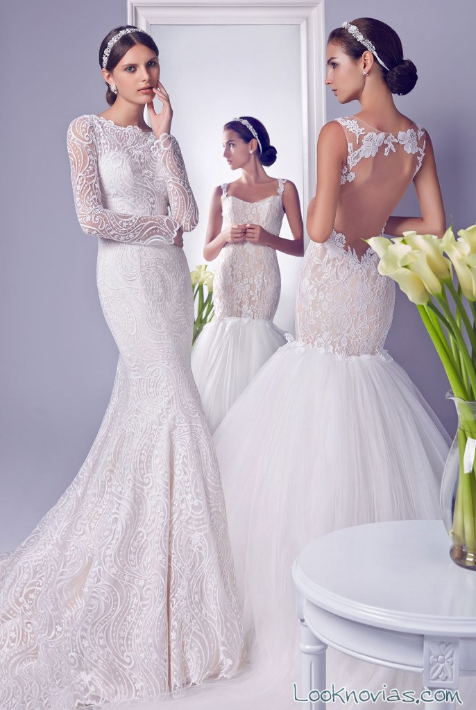 vestidos rectos sirena para novias rico a mona