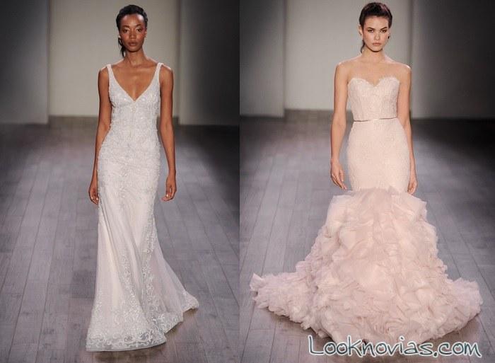 vestidos sirena de lázaro 2016