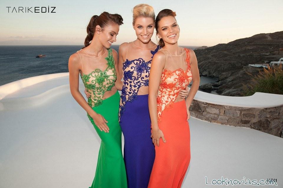 vestidos sirena en color para invitadas