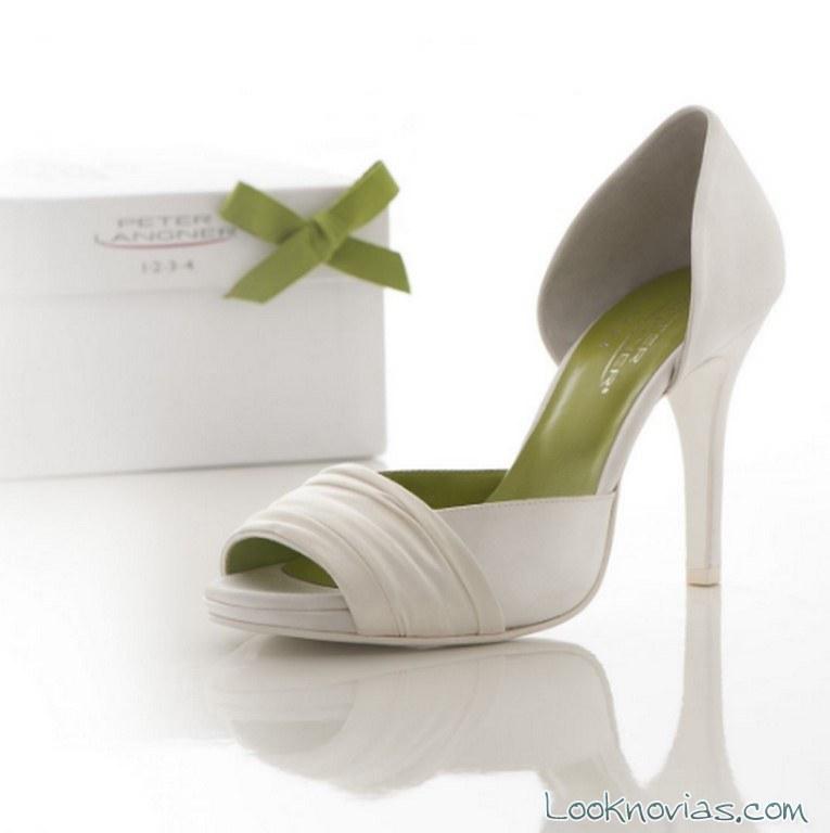 zapatos blancos novias peter langner
