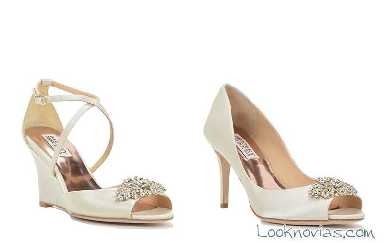 zapatos clásicos para novia de badgley mischka