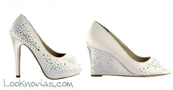 Zapatos Liz Rene para novias muy elegantes