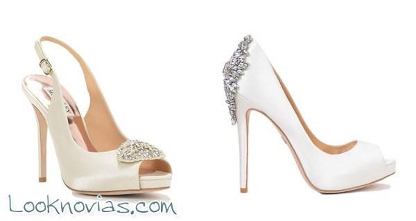 6 modelos de zapatos para novia por Badgley Mischka