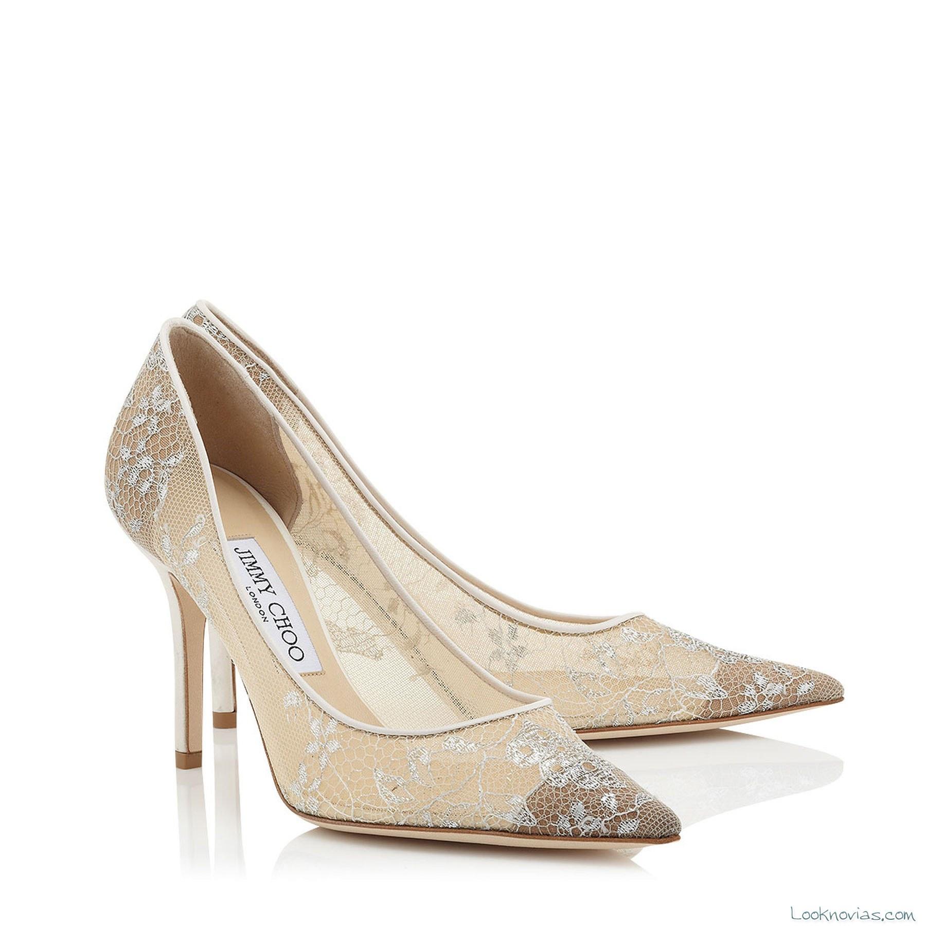 zapatos de novia semi-transparentes