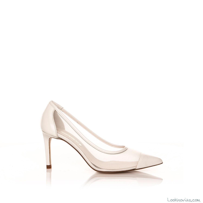 zapatos tacón bajo tranparentes