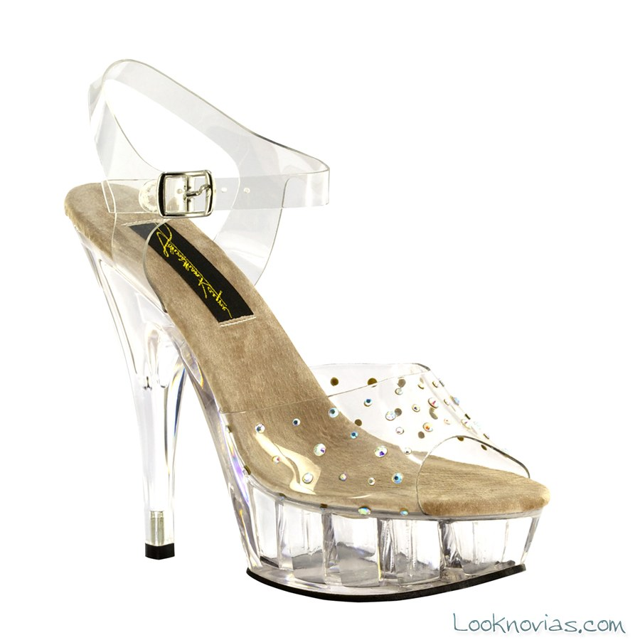 zapatos tacón vinilo para novias
